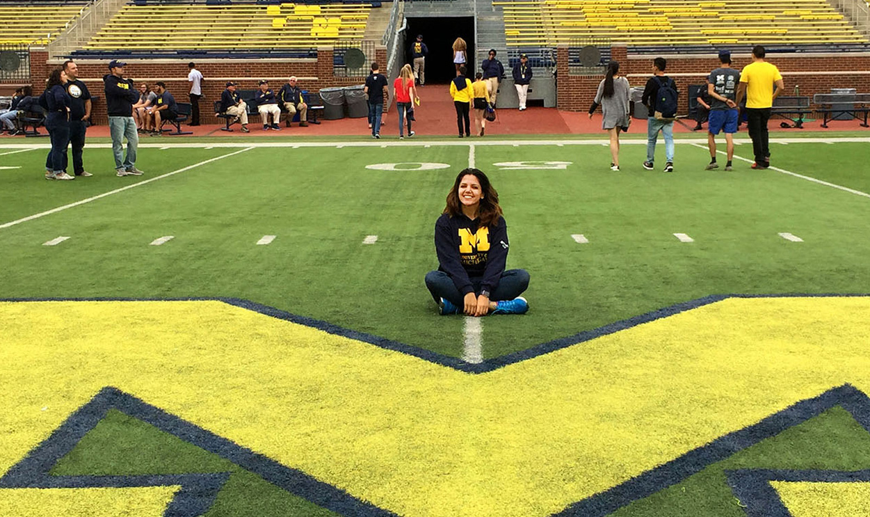 student at The Big House