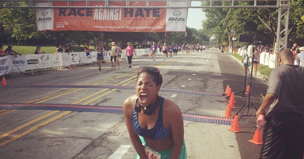 René Pitter, MPH '09, finishes the Race against Hate